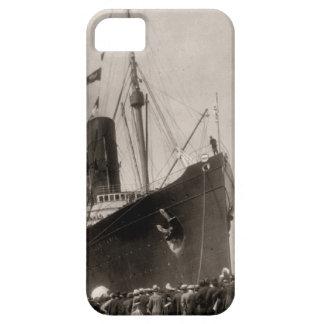 El Lusitania del RMS llega New York City 1907 iPhone 5 Carcasas