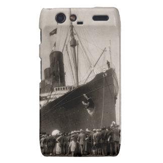 El Lusitania del RMS llega New York City 1907 Droid RAZR Carcasas