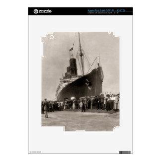 El Lusitania del RMS llega New York City 1907 iPad 3 Skin