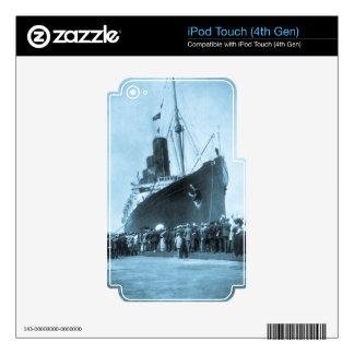 El Lusitania llega en el vintage de Nueva York iPod Touch 4G Skin
