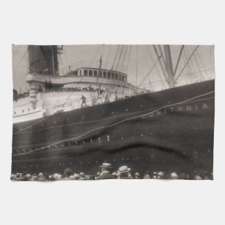 El Lusitania llega New York City 1907 Toallas