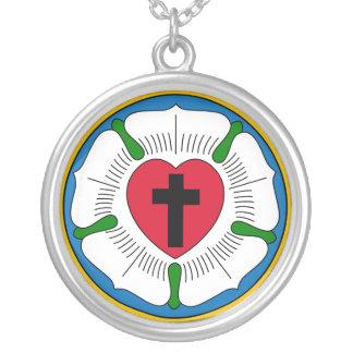 El Lutheranism Martin Luther del rosa de Luther Colgante Redondo
