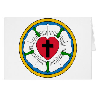 El Lutheranism Martin Luther del rosa de Luther Tarjeta De Felicitación