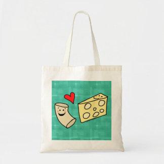 El mac ama el queso, macarrones lindos divertidos bolsa tela barata