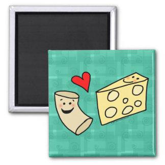El mac ama el queso, macarrones lindos divertidos  iman para frigorífico