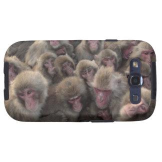 El macaque japonés (fuscata del Macaca) amontonó Samsung Galaxy S3 Carcasas