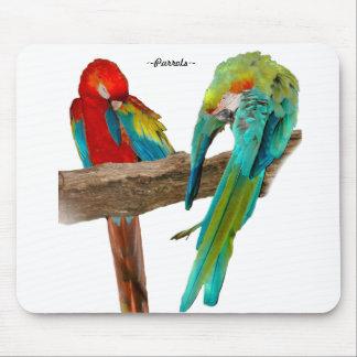 El Macaw colorido repite mecánicamente Mousepad Tapetes De Ratón