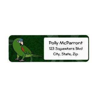 El Macaw de Hahn Etiquetas De Remite