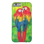 El Macaw de los pájaros del amor repite Funda De iPhone 6 Barely There