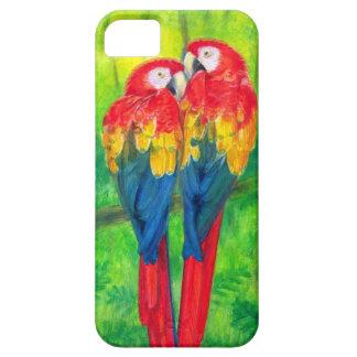 El Macaw de los pájaros del amor repite iPhone 5 Funda