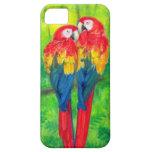 El Macaw de los pájaros del amor repite mecánicame iPhone 5 Fundas