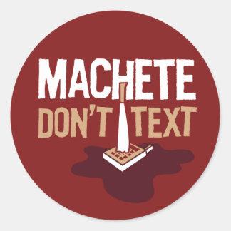 El machete no hace pegatina del texto