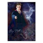 El macho Patronus de Harry Potter Tarjeta De Felicitación
