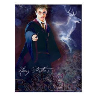El macho Patronus de Harry Potter Tarjetas Postales