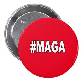 """¡El #MAGA """"hace América grande otra vez""""! Pin Redondo De 3 Pulgadas"""