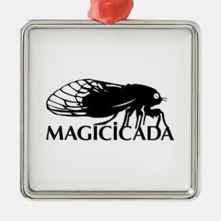 ¡El Magicicada - cigarra - los insectos frescos Adorno Navideño Cuadrado De Metal