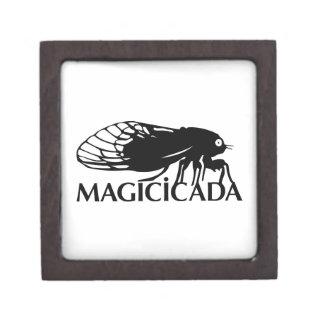 ¡El Magicicada - cigarra - los insectos frescos co Cajas De Recuerdo De Calidad