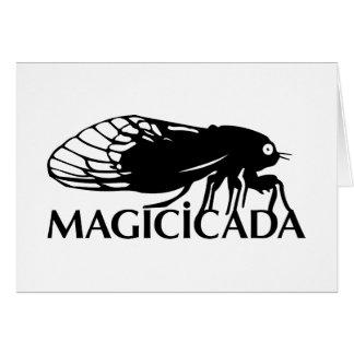 ¡El Magicicada - cigarra - los insectos frescos Tarjeta De Felicitación