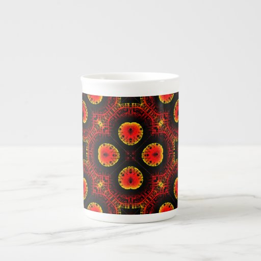 El magma rojo ardiente agita el papel grande corta tazas de china