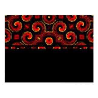 El magma rojo ardiente agita el papel grande postales