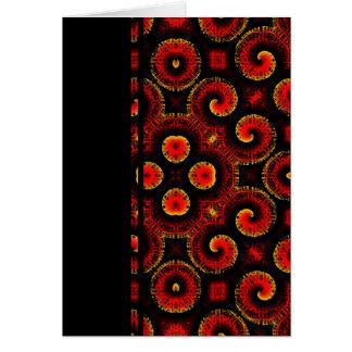 El magma rojo ardiente agita el papel grande tarjeta de felicitación