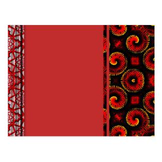 El magma rojo ardiente agita el papel grande tarjetas postales