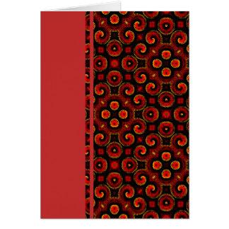 El magma rojo ardiente agita el pequeño papel tarjeta pequeña
