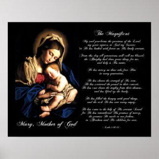 El Magnificat - Madonna y poster del personalizado