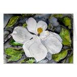 el magnolia_flower_painting, magnolia felicitación