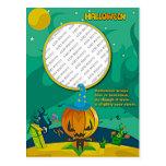 El mago de la linterna del o de Halloween Jack aña Tarjetas Postales
