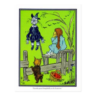El mago de Oz: Dorothy miró cuidadosamente Postal