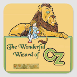 El mago de Oz maravilloso Pegatina Cuadrada