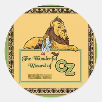 El mago de Oz maravilloso Pegatina Redonda