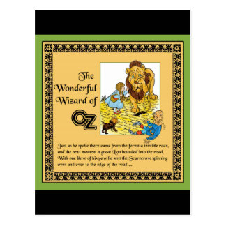 El mago de Oz maravilloso Tarjeta Postal