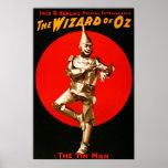 El mago de Oz - poster de teatro del vintage