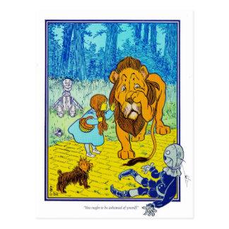El mago de Oz: ¡Usted debe estar avergonzado! Tarjeta Postal