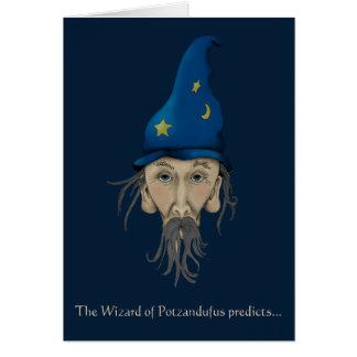 El mago de Potzandufus predice Tarjeta De Felicitación