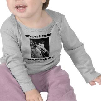 El mago del del oeste (Nikola Tesla) Camisetas