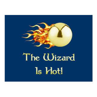El mago del pinball es caliente postales