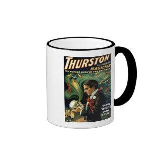 El mago famoso del mundo de Thurston - vintage Taza A Dos Colores