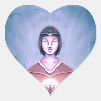 El mago joven pegatina en forma de corazón