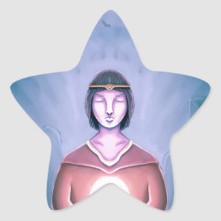 El mago joven pegatina en forma de estrella
