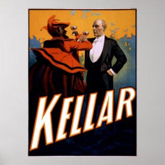El mago Kellar tuesta al diablo Póster