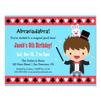 """El mago lindo embroma a la fiesta de cumpleaños invitación 4.25"""" x 5.5"""""""