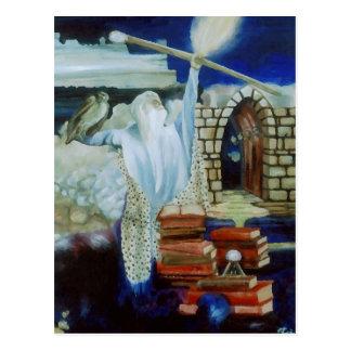 El mago que enciende el cielo nocturno con poder tarjetas postales