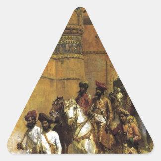 El Maharahaj de Gwalior antes de su palacio Pegatina Triangular