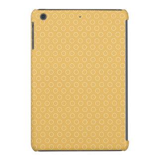 El maíz amarillo-naranja retro circunda el modelo fundas de iPad mini