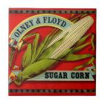 El maíz de azúcar del vintage Olney y Ford produce Azulejo Cuadrado Pequeño