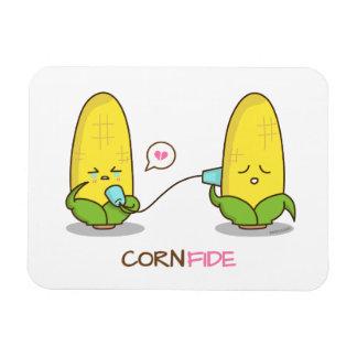 El maíz divertido lindo de Punny confía al mejor Imán