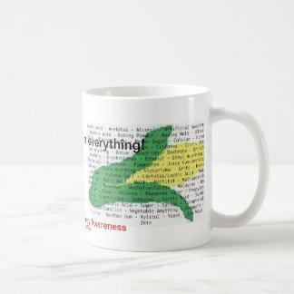El maíz es en todo - lista del alergénico del maíz tazas